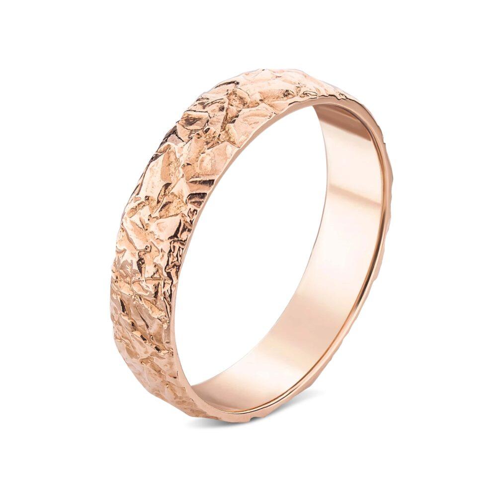 Обручальное кольцо в красном золоте, рельефная 69900911.100-0169_ru